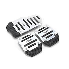 cheap Car Pedals-DIY XB373 Non-Slip Pedal for Car - Red - Blue - Silver
