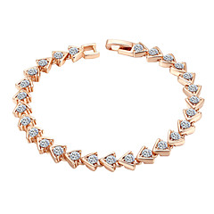 Women's Chain Bracelet Alloy Cubic Zirconia Classical Feminine Style