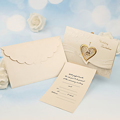 Tri-Fold Wedding Invitations 50-Invitation Cards Pearl Paper