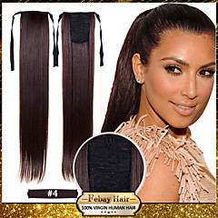cheap Wigs & Hair Pieces-22 inch #8 #12 #16 #27 #33 Straight Ponytails Synthetic Hair Piece Hair Extension