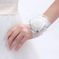 Flori de Nuntă Rotund Legat Manual Corsaj de mână Nuntă Petrecere / Seară Dantelă