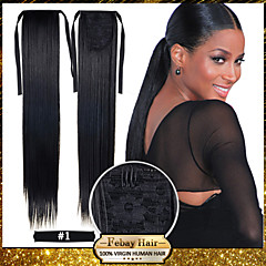 cheap Wigs & Hair Pieces-hot selling 22inch 55cm 100g pcs fashion ponytail hairpieces braid straight synthetic ponytail