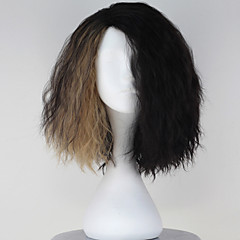 cheap Wigs & Hair Pieces-Synthetic Wig With Bangs Synthetic Hair Black Wig Women's