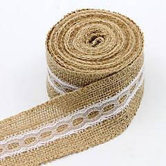 Côr Sólida Juta Fitas de casamento-1 Piece / Set Laço com Tecelagem Laço Para Presente