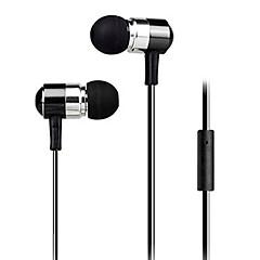 nieuwe super bass hoofdtelefoon 3,5 mm in-ear stevige pasvorm metalen voor iPhone 6 / iphone 6 plus