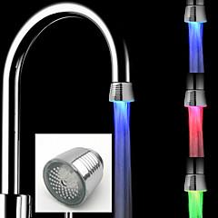 Χαμηλού Κόστους Βρύσες κουζίνας-οδήγησε βρύση νερό ανοιχτόχρωμο χρώματα αλλάζοντας λάμψη ντους ροή βρύση κουζίνα αξεσουάρ μπάνιου