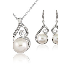 Women's Jewelry Imitation Pearl Party Anniversary Engagement Alloy Earrings Necklaces Bracelets