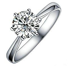 お買い得  指輪-指輪 - スタイリッシュ シルバー リング 用途 結婚式 パーティー/フォーマル