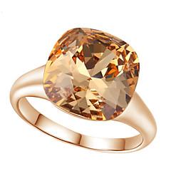 Tyylikkäät sormukset Kristalli jäljitelmä Diamond Metalliseos Muoti ylellisyyttä koruja Punainen Vaaleanruskea Korut Häät Party 1kpl