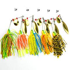 billiga Fiskbeten och flugor-4 pcs Mjukt bete / Fiskbete Mjukt bete / Spinnfluga Silikon / Metall Sjöfiske / Drag-fiske / Generellt fiske