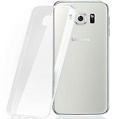 billige Telefoner og nettbrett-Etui Til Samsung Galaxy Samsung Galaxy Etui Gjennomsiktig Bakdeksel Helfarge TPU til S7 edge / S7 / S6 edge plus