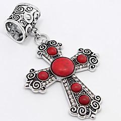 moda anti-ailver diamante na moda tophus cruz fivela cachecol ou pingente do vintage