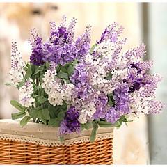 billige Kunstige blomster-Kunstige blomster 1 Gren Pastorale Stilen Lyseblå Bordblomst