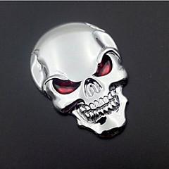 motorfiets auto-auto logo 3d metalen embleem badge sticker schedel skelet bot sticker