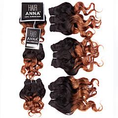 preiswerte 3-Ton Haarverlängerungen-Brasilianisches Haar Lose gewellt Klassisch Menschliches Haar Webarten 3 Stück Gute Qualität Schlussverkauf