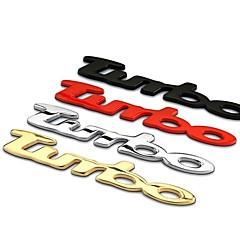 turbo dekoráció 3d autó styling autós matrica autó hátsó dekoráció jelvények kiváló minőségű matricák