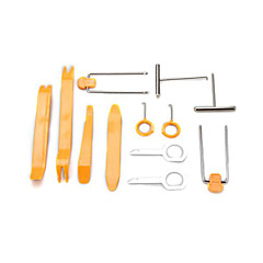 12 Piece Universal Car Radio Stereo Dash Trim Removal Plastic Pry Tool Kit Set