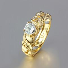 Damen Bandringe Modeschmuck vergoldet 18K Gold Schmuck Für Hochzeit Party Alltag Normal