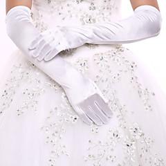 До плеча С открытыми подушечками пальцев Перчатка Спандекс Свадебные перчатки Вечерние перчатки Весна Осень Зима