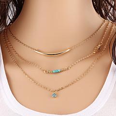 בגדי ריקוד נשים שרשרת שרשראות Layered תכשיטים טורקיז עיצוב בייסיק עיצוב מיוחד אופנתי תכשיטים תכשיטים עבור Party יומי קזו'אל