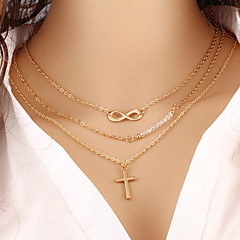abordables -Femme Infini Mode Collier multi rangs Collier multi rangs , Occasion spéciale Anniversaire