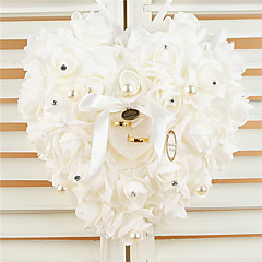 cheap Wedding Ceremony-Hanging Rose Flower with Rhinestone Ring Pillow Wedding Ceremony