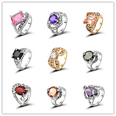 Vintage / Party / Casual Alloy / Gemstone & Crystal / Cubic Zirconia Band Ring 2 Pieces