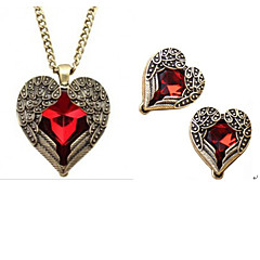 MISSING U Women Vintage / Party Alloy / Gemstone & Crystal Necklace / Earrings Jewelry Sets
