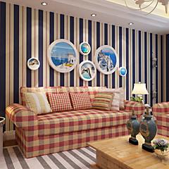 billige Tapet-Stribe Hjem Dekor Moderne Tapetsering, Ikke vævet papir Materiale bakgrunns, Tapet