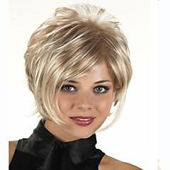 tanie Peruki syntetyczne-Peruki syntetyczne Falisty Fryzura Pixie Z grzywką Gęstość Bez czepka Damskie Blond Karnawałowa Wig Halloween Wig Krótki Włosy syntetyczne