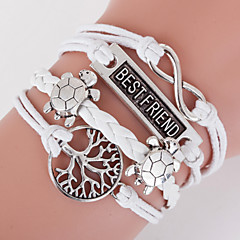 Multilayer Best Friend & Life Tree Weave Bracelet,White inspirational bracelets Jewelry Gifts