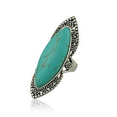 お買い得  指輪-女性用 指輪 ターコイズ 合金 スタイリッシュ 結婚式 パーティー/フォーマル コスチュームジュエリー