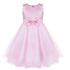 tanie Odzież dla dziewczynek-Brzdąc Dla dziewczynek Elegancka odzież Żakard Bez rękawów / Rozmiar S Tuleja mierzy 61 cm (długość rękawa zwiększa 1 cm z każdego rozmiaru w górę) Sukienka