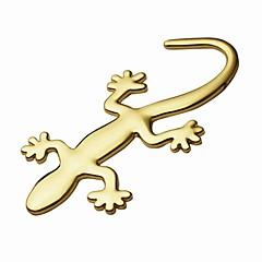 ziqiao 3d czystych metali Gecko naklejki naklejki osobowości samochód dekoracji