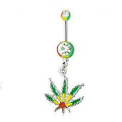 tanie Piercing-Pierścień pępka / piercing brzucha - Stal nierdzewna Moda Damskie Zielony / Jasnozielony Biżuteria Na Codzienny / Casual