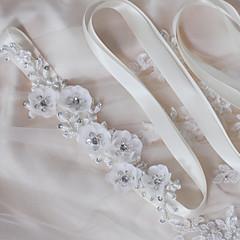 結婚式 パーティー/フォーマル 日常着 サッシュ With ビーズ アップリケ フラワー 真珠 スパンコール