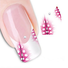 halpa -3D Nail Stickers - Muuta - Abstrakti / Lovely - Sormi - 10.5X7X0.1 - 1