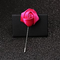 billige Motebrosjer-Herre Dame Nåler Krystall Mote Legering Roser Blomst Rød Blå Rosa Vin Lyseblå Smykker Til Bryllup Fest Bursdag Engasjement Gave Daglig