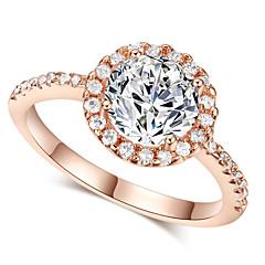 billige Motering-Dame Krystall Statement Ring - Fuskediamant Klassisk, Kjærlighed, Mote En størrelse Sølv / Gylden Til Bryllup Fest