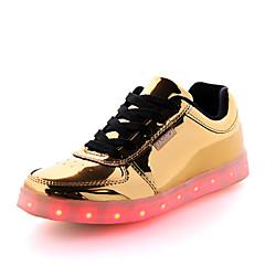 billige Trendy sko-Herre Dame Sko Kunstlæder Forår Efterår Snøring for Atletisk Afslappet udendørs Sølv Gylden