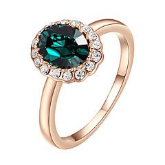 billige Motering-Dame Krystall / Syntetisk Smaragd Statement Ring - Fuskediamant, Legering Enkel Stil, Mote En størrelse Lilla / Grønn Til Bryllup / Fest
