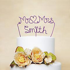 Kakepynt Personalisert Klassisk Par Rustfritt Stål Bryllup Jubileum Utdrikkingslag Rød Rosa Syrin Gull Sølv Grønn Blå Hage Tema 1 OPP