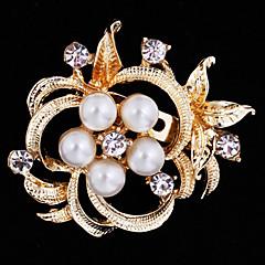 billige Motebrosjer-kvinners blomst brosje for bryllupsfesten dekorasjon skjerf, fine smykker, tilfeldig farge