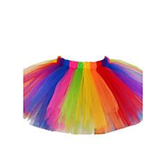 お買い得  女児 スカート-女の子 祝日 カラーブロック コットン ポリエステル スカート 春 夏 秋 パール