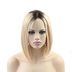 billiga Peruker och hårförlängning-Äkta hår Spetsfront Peruk Rak 150% Densitet Naturlig hårlinje / Afro-amerikansk peruk / 100 % handbundet Dam Mellan Äkta peruker med hätta