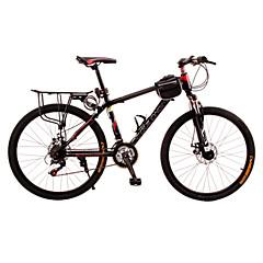 אופני הרים רכיבת אופניים 21 מהיר 24 אינץ' יוניסקס דיסק בלימה מזלג שיכוך נגד החלקה פלדה / סגסוגת אלומיניום אדום