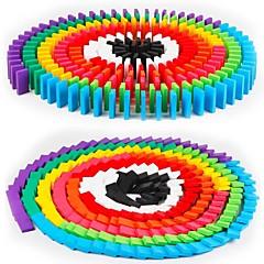 צבעים ממוינים עץ אבני בניין צעצועי DIY