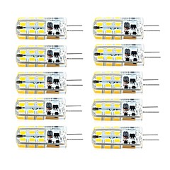 10pcs G4 2.5W 24led 2835SMD 260LM 3000K/6000K Warm White/Cool White Light Lamp Bulb(AC/DC 10-20V AC200-240V)