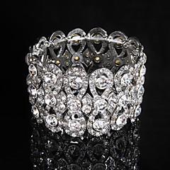 naisten ketju / pyöreä rannerengas rannekorun metalliseos rhinestone tyylikäs tyyli