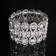 Women's Chain / Round Bangles Bracelet Alloy Rhinestone Elegant Style